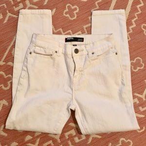 BDG High-rise skinny white denim jeans